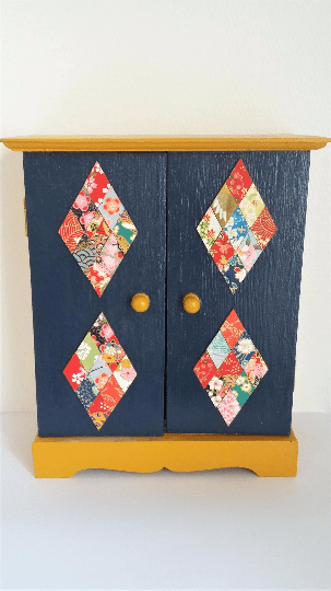 Petit meuble bois color cadeau de naissance d coration chambre enfant - Meuble colore ...