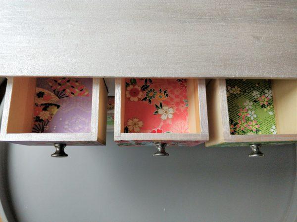 Boîte à bijoux 6 tiroirs papier japonais 4