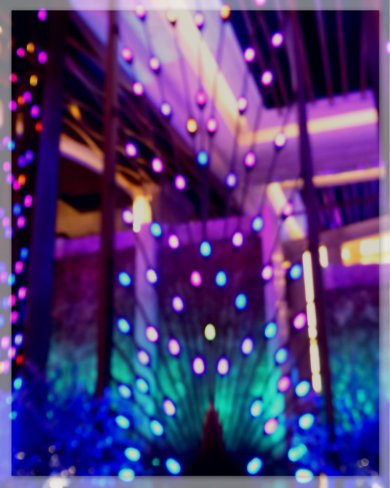 Blue purple Peacock lounge divider, The Galaxy Macau