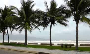 Da Nang Beach - view from the street