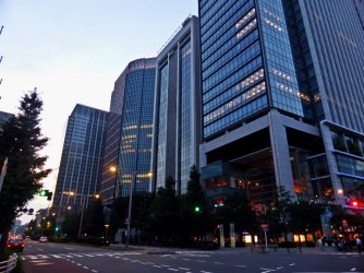 View on the way to Tokyo International Forum