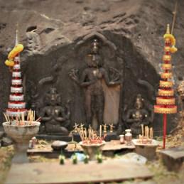 Trimurti at Wat Phou