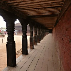 The quietness around Bhaktapur Durbar Square