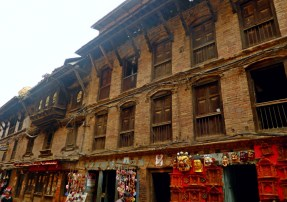 The traditional facade in Nepal