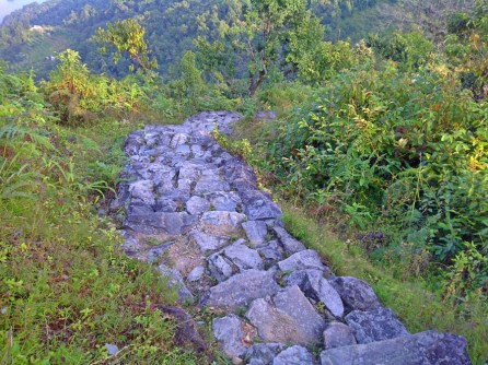 Trekking path from Hotel to Shanti Stupa or World Peace Pagoda