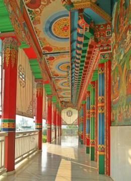 A Terrace at The Great Drigung Kagyud Lotus Stupa