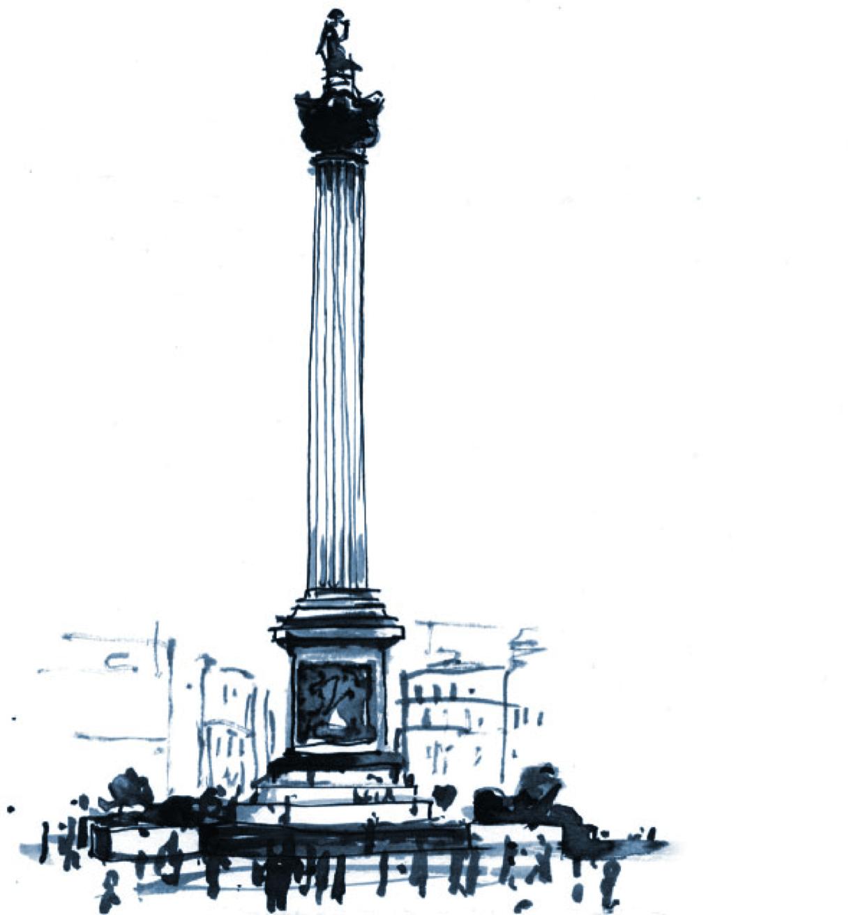 Cerno Capital Nelson's Column Ink Sketch