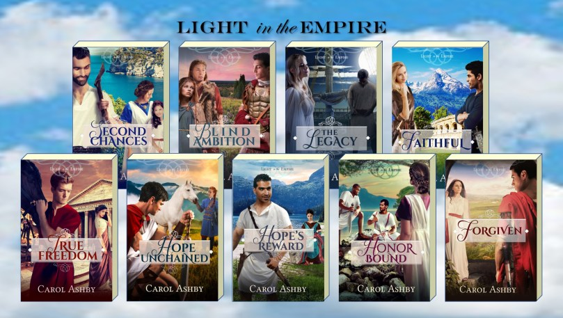 covers of the Light in the Empire novels by Carol Ashby