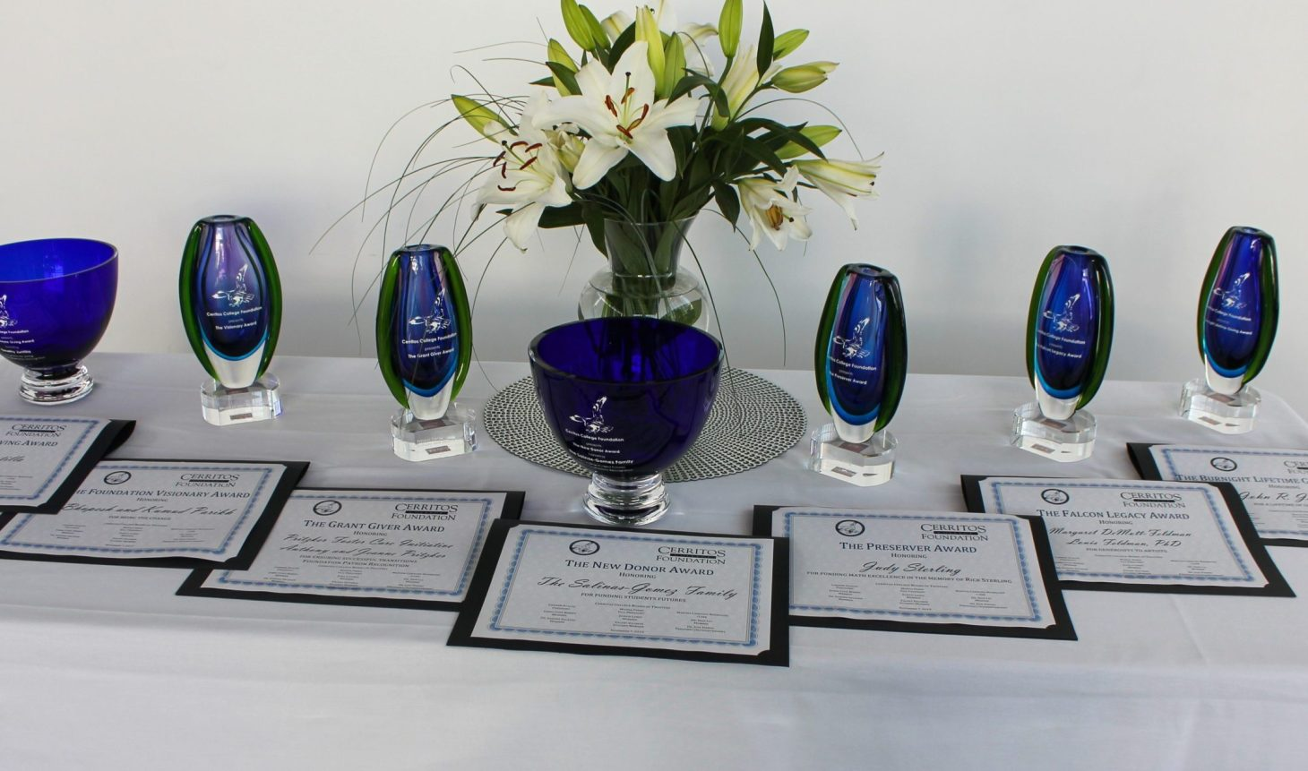 2019 Donor Recognition Brunch Awards Table