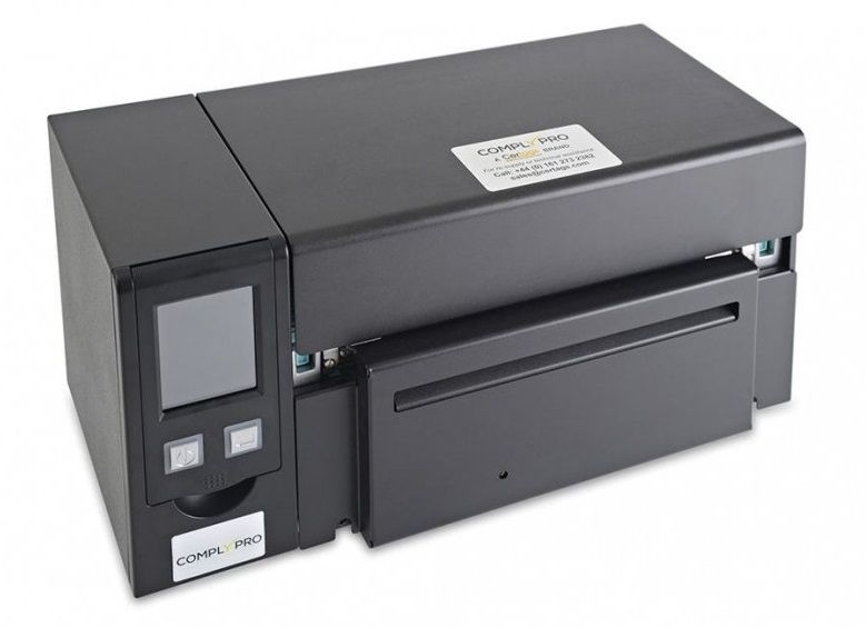 Comply Pro label machine, label printer, barcode printer, asset management