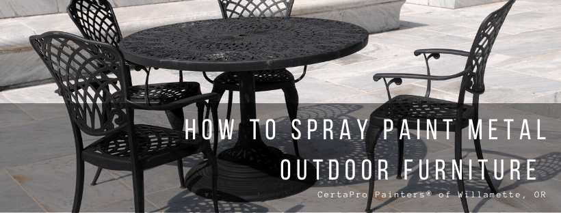 how to spray paint metal outdoor