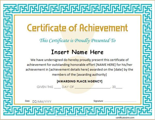 Certificates of Achievement for WORD | Professional ...