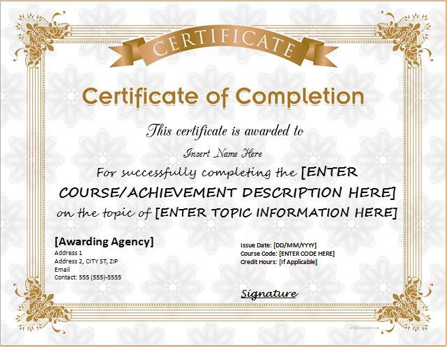 Appreciation Certificate Template Microsoft Word