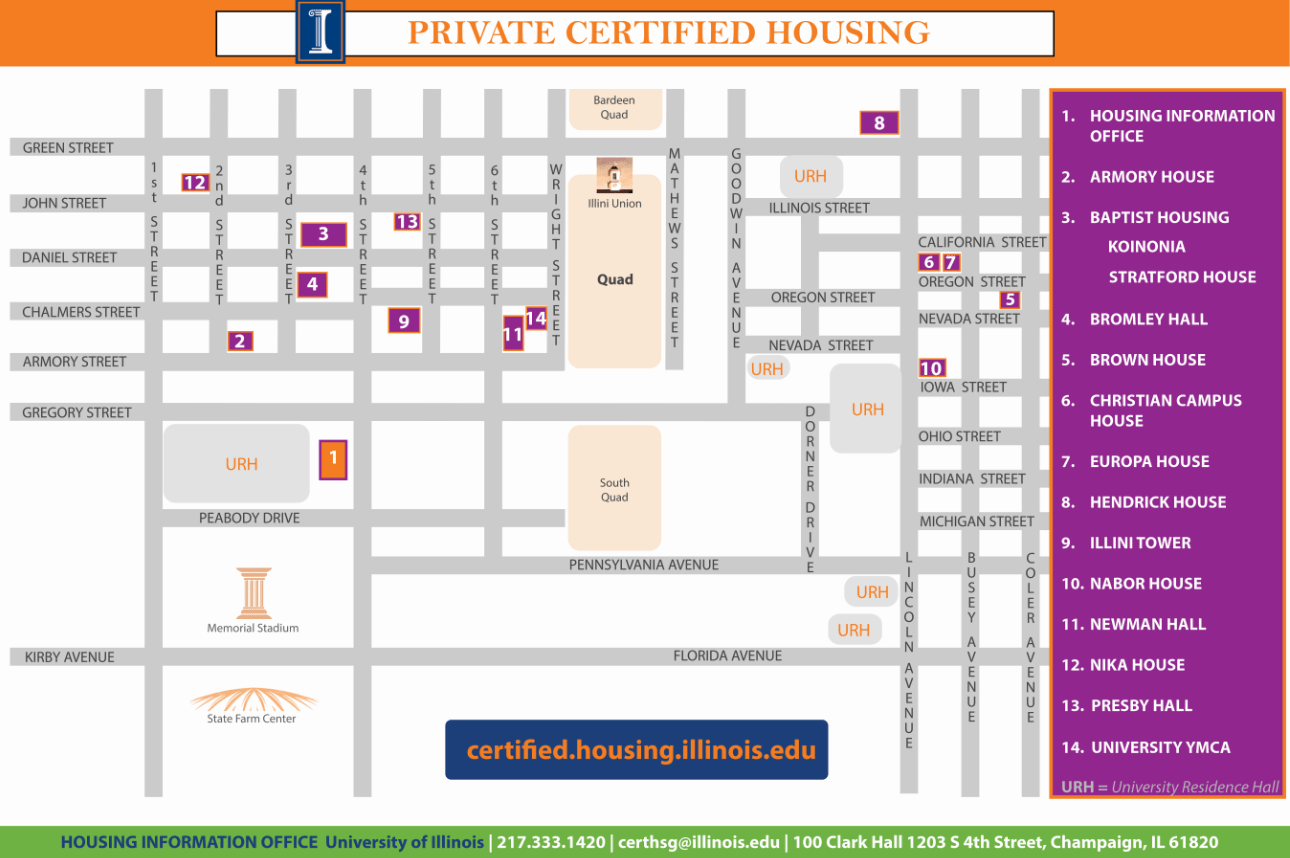 Bevier Uiuc Hall Campus Map