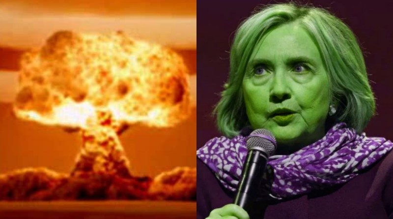 """Hillary Clinton tries to Smear Trump over """"Nuking Hurricanes"""" Stumbles Miserably"""