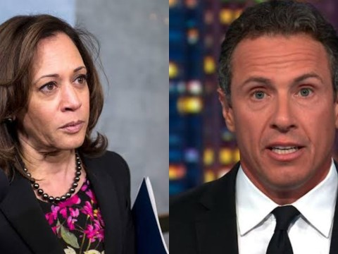 Chris Cuomo unconsciously Embarrasses Kamala Harris on Stage