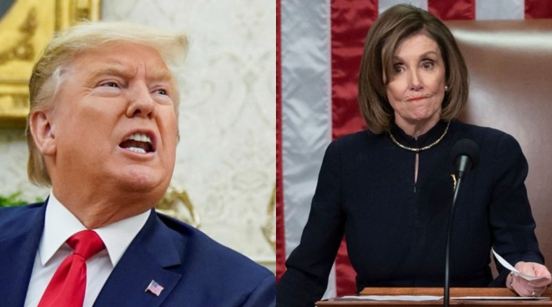 President Trump unleashed hell on Pelosi on Christmas day