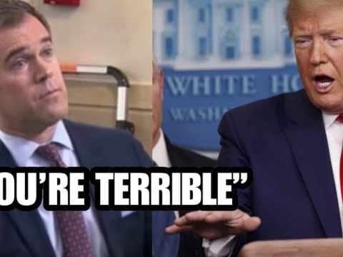 """YOU'RE TERRIBLE"" DISRESPECTFUL REPORTER TRIES TO BAIT TRUMP ON CORONA VIRUS GETS DISMANTLED"