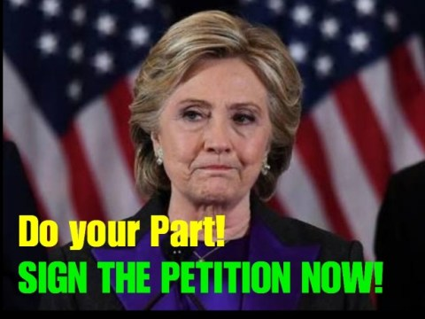 JOIN THOUSANDS OF PATRIOTIC AMERICANS SIGN NEW PETITION TO MAKE HILLARY CLINTON FINALLY PAY FOR HER CRIMES