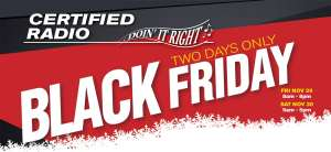 Certified Radio Black Friday Edmonton Flyer November 29 - 30