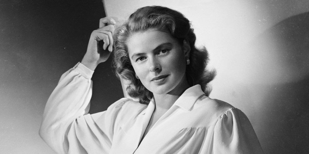 Breathtaking but not Oregon real estate. Film star Ingrid Bergman (1915 - 1982)