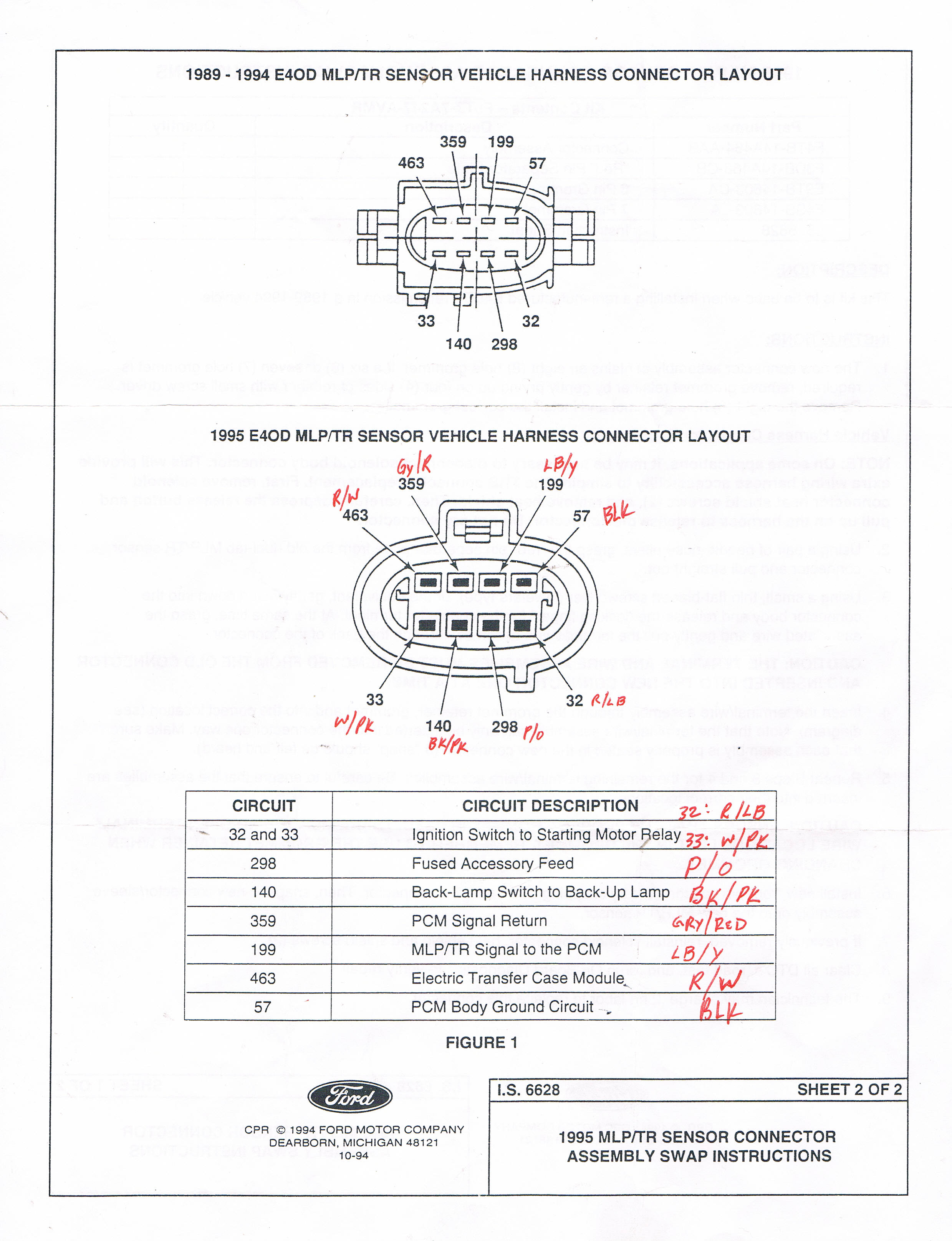 Ford E4od Transmission Wiring Harnes Diagram