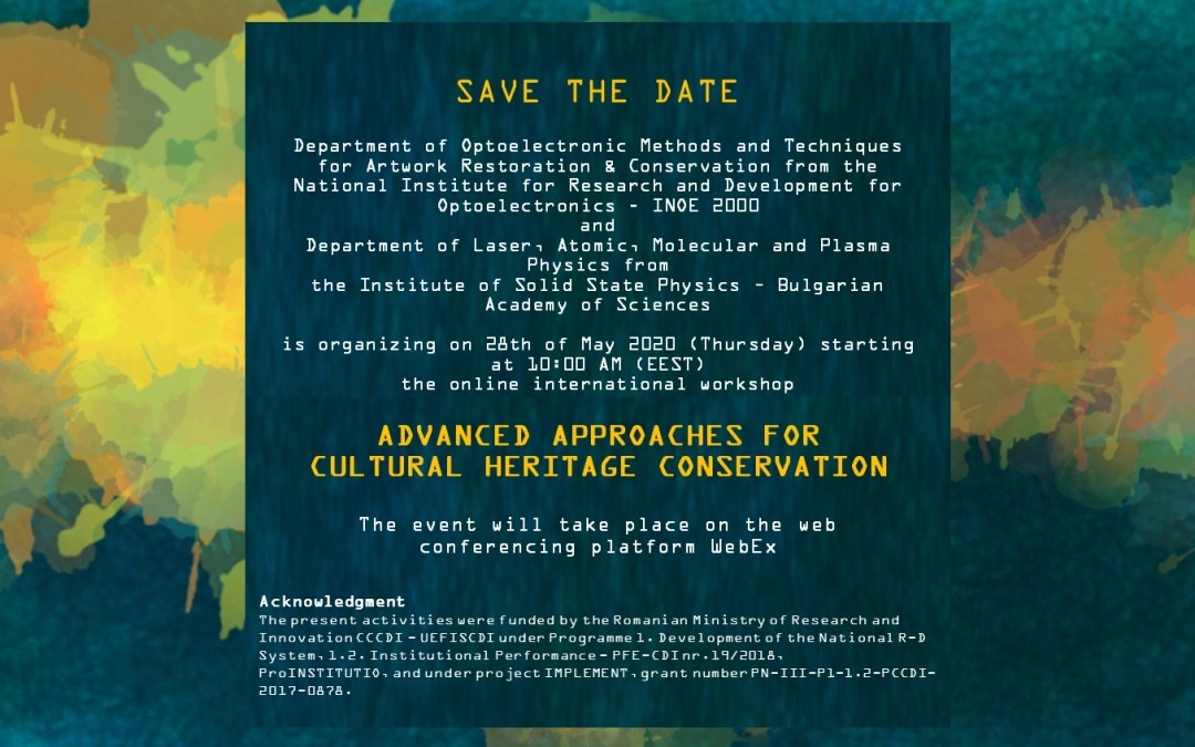 Workshop: Advanced approaches for Cultural Heritage conservation