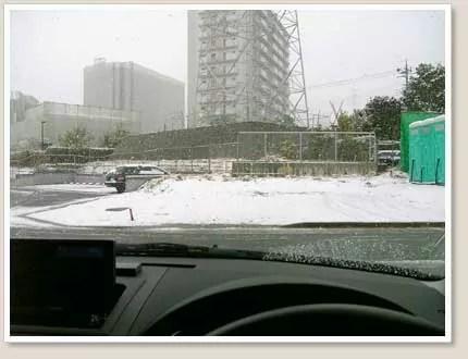 雪が積もってきました