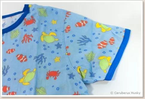 半袖前開きガーゼパジャマ(海のなかま)