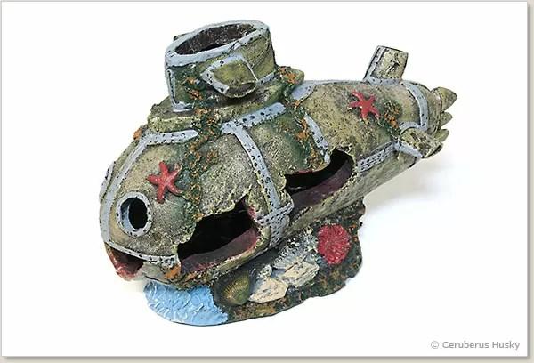 潜水艦のオブジェ