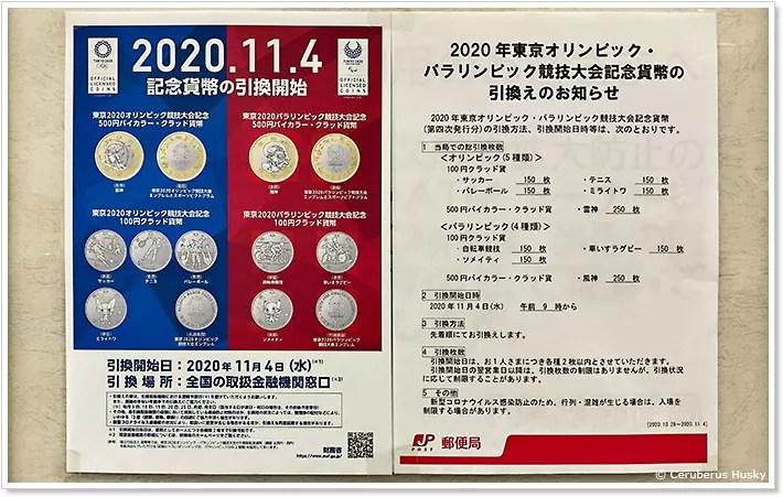 2020東京オリンピック・パラリンピック競技大会記念貨幣の引換えのお知らせ