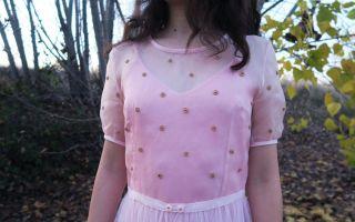 DIY vestido de organza y tul