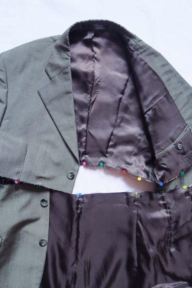 Tutorial reciclaje ropa: DIY traje a partir de americana, interior del traje