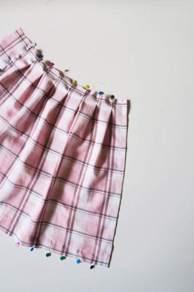 Tutorial reciclaje ropa: DIY falda tablas patchwork, plegando las tablas