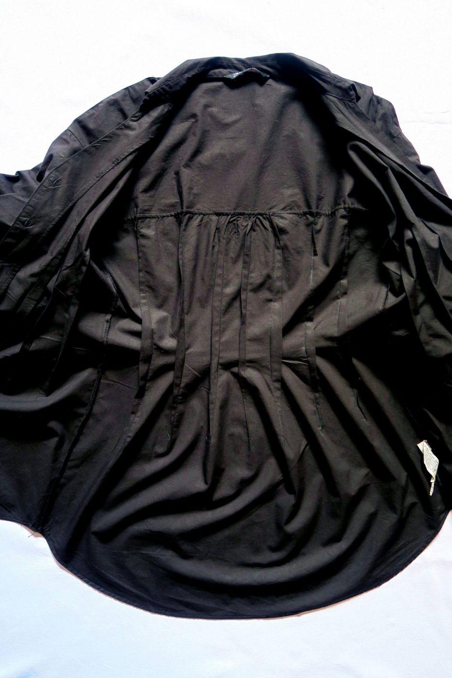 Tutorial reciclaje ropa: DIY vestido camisa ajustado, pinzas por el interior de la camisa