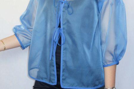 Tutorial costura DIY: blusa organza con lazos