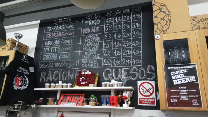 cervezas disponibles en el taproom CCVK