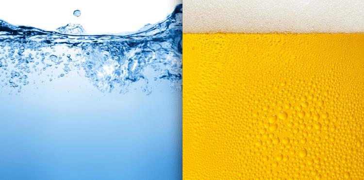 Agua para hacer cerveza