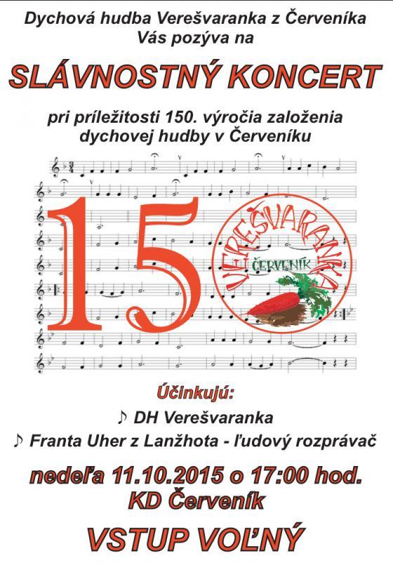 150. výročie založenia dychovej hudby