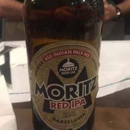 cerveza artesana moritz red ipa