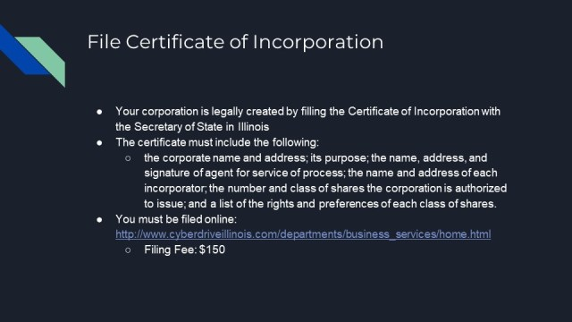 Forming a Corporation in Illinois
