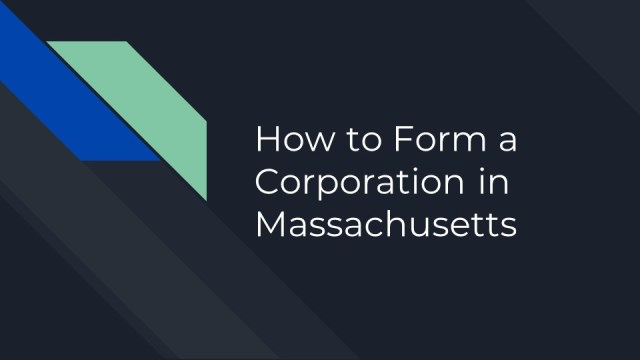 Forming a Corporation in Massachusetts