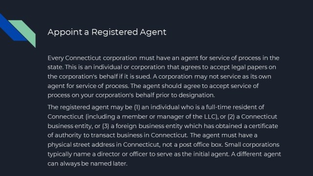 How to for a Connecticut Corporation 3