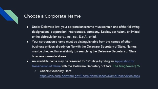 How to Form a Corporation in Delaware 2