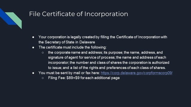 How to Form a Corporation in Delaware 3