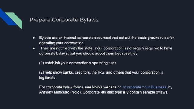 How to form a Corporation in Illinios 4