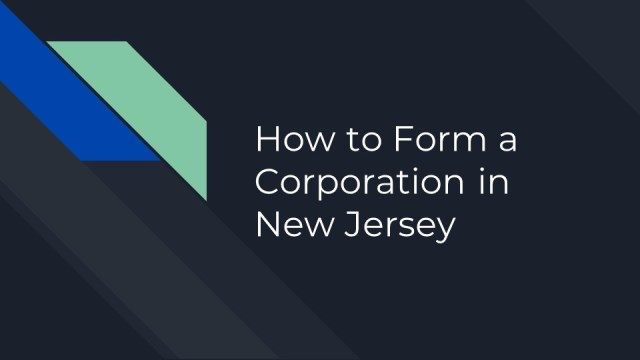 How to form a corporation in New Jersey 1