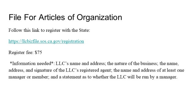 How to form an LLC California 3