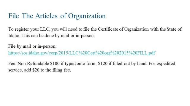 How to Form an LLC Idaho 4