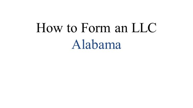 How to Form an LLC in Alabama 1
